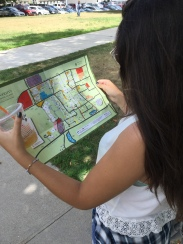 We used our trusty campus map to find our way around town